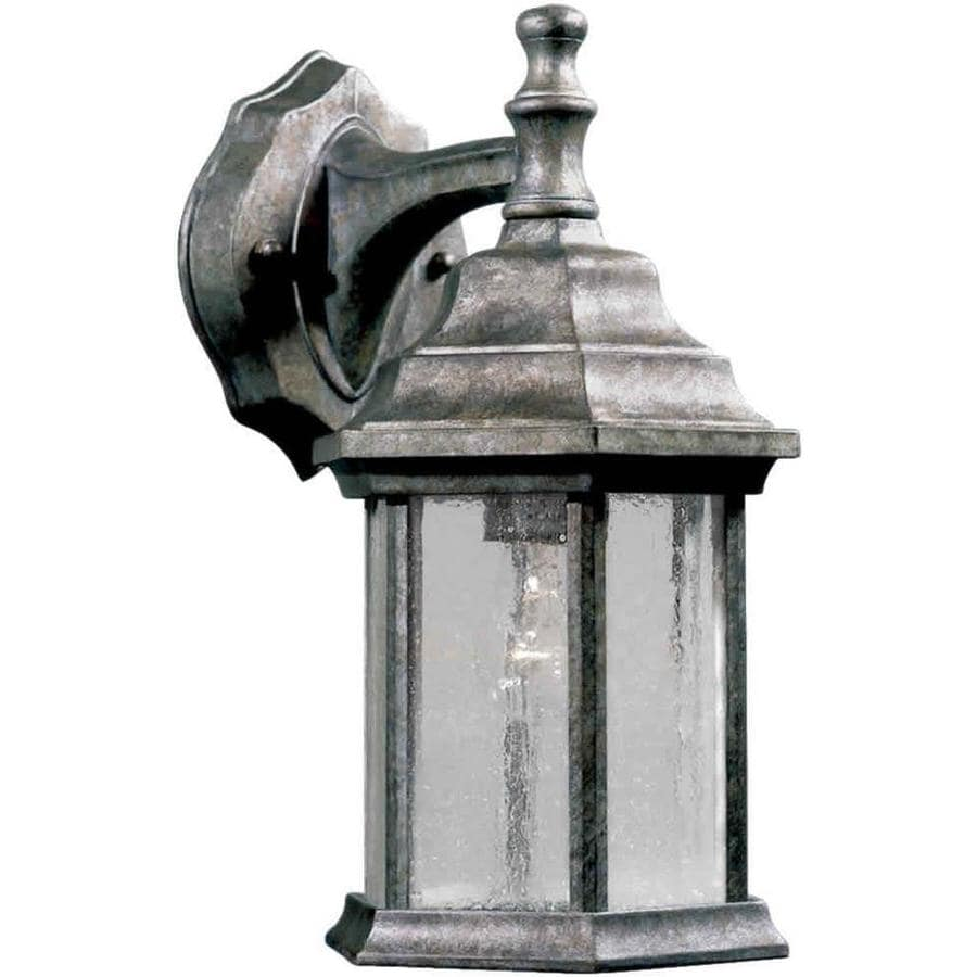 Shop 12 in h river rock outdoor wall light at for River rock lamp