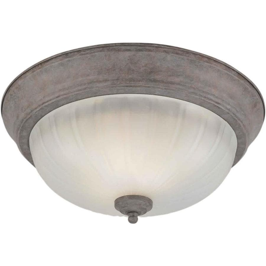 13.25-in W Desert Stone Standard Flush Mount Light