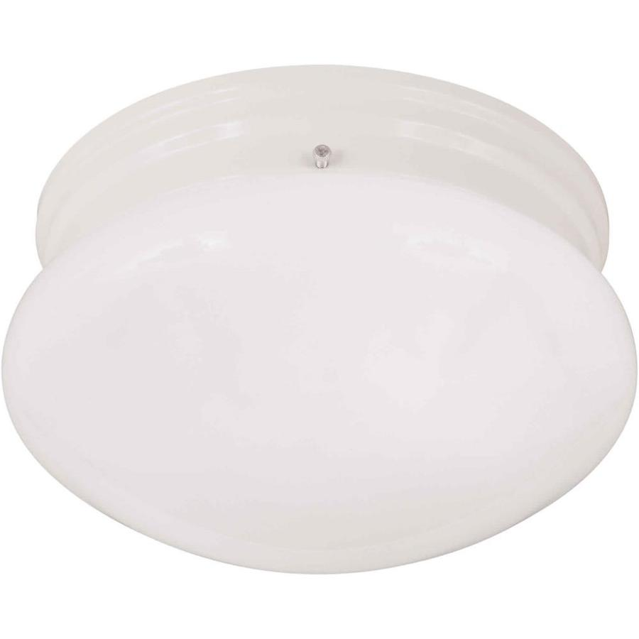 7.5-in W White Standard Flush Mount Light