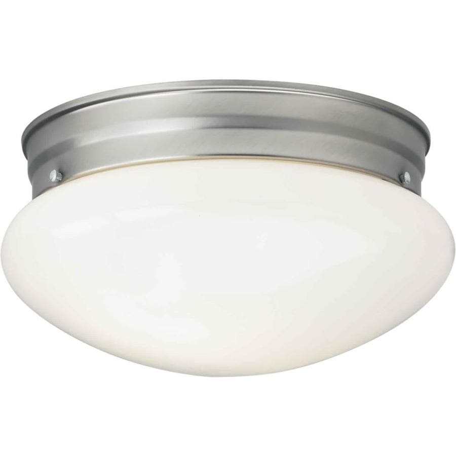 9.5-in W Brushed Nickel Flush Mount Light