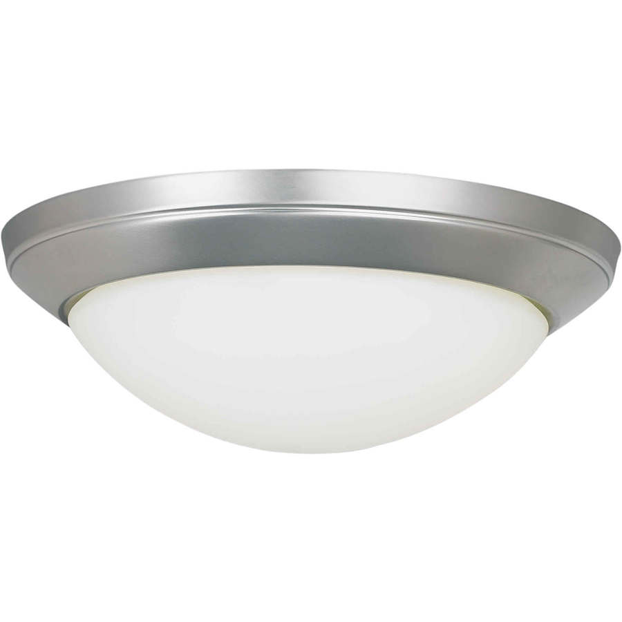 14-in W Brushed Nickel Standard Flush Mount Light