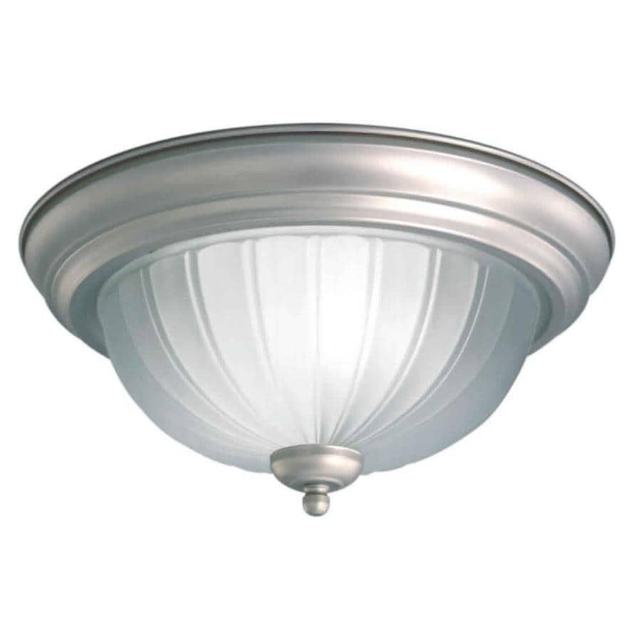 11.25-in W Brushed Nickel Standard Flush Mount Light