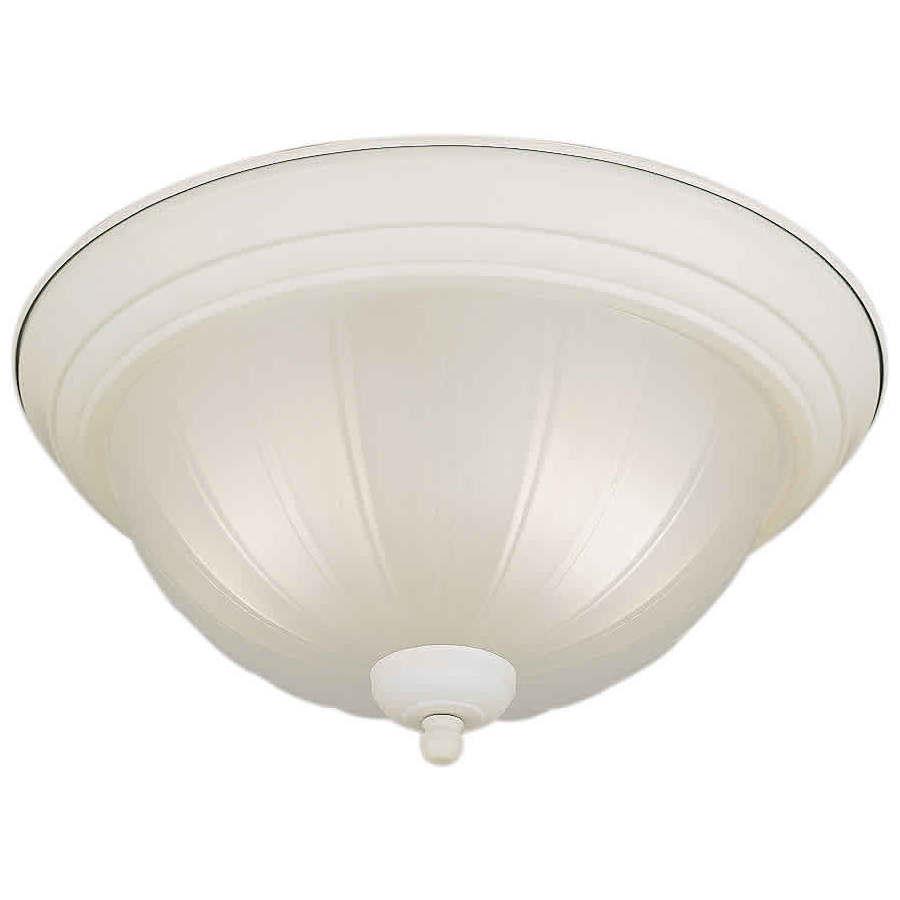 13.25-in W White Ceiling Flush Mount Light