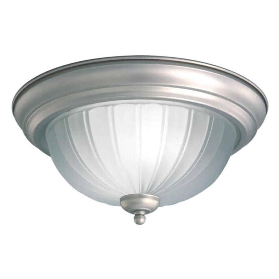 15.25-in W Brushed Nickel Flush Mount Light