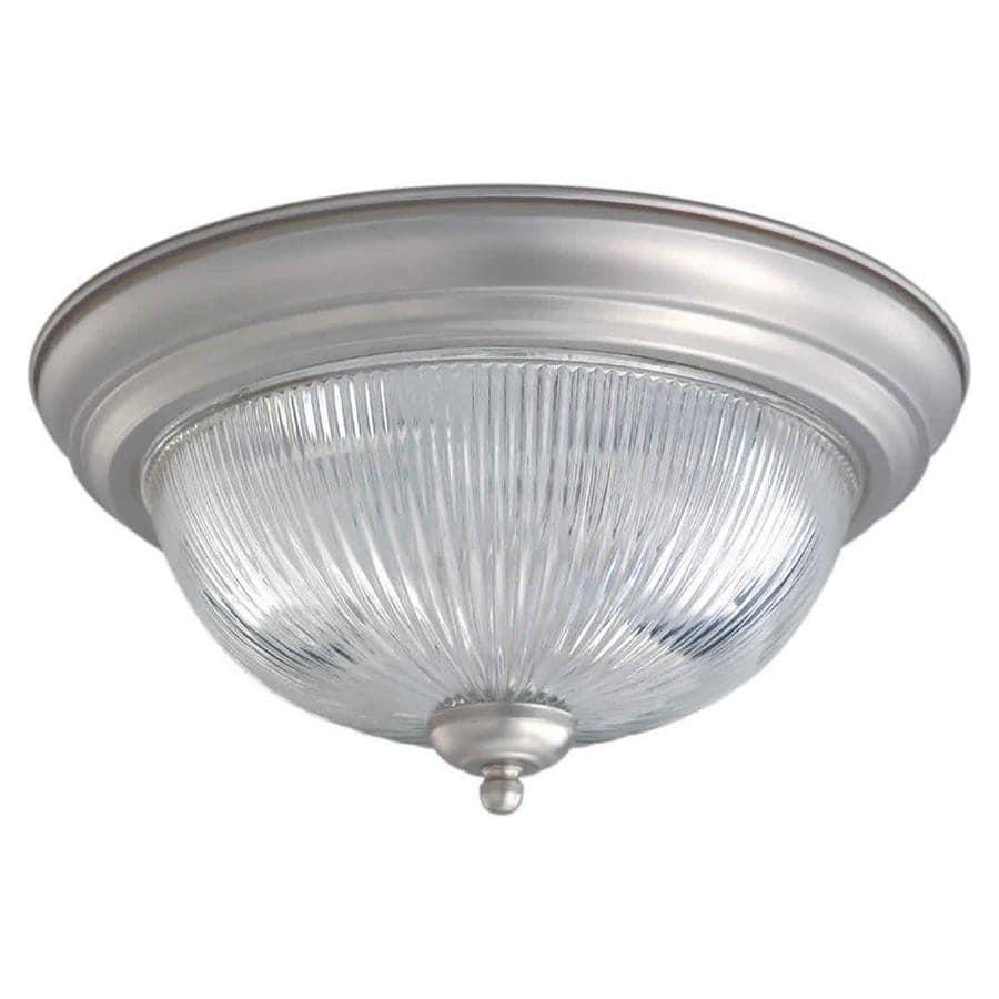 13.25-in W Brushed nickel Flush Mount Light
