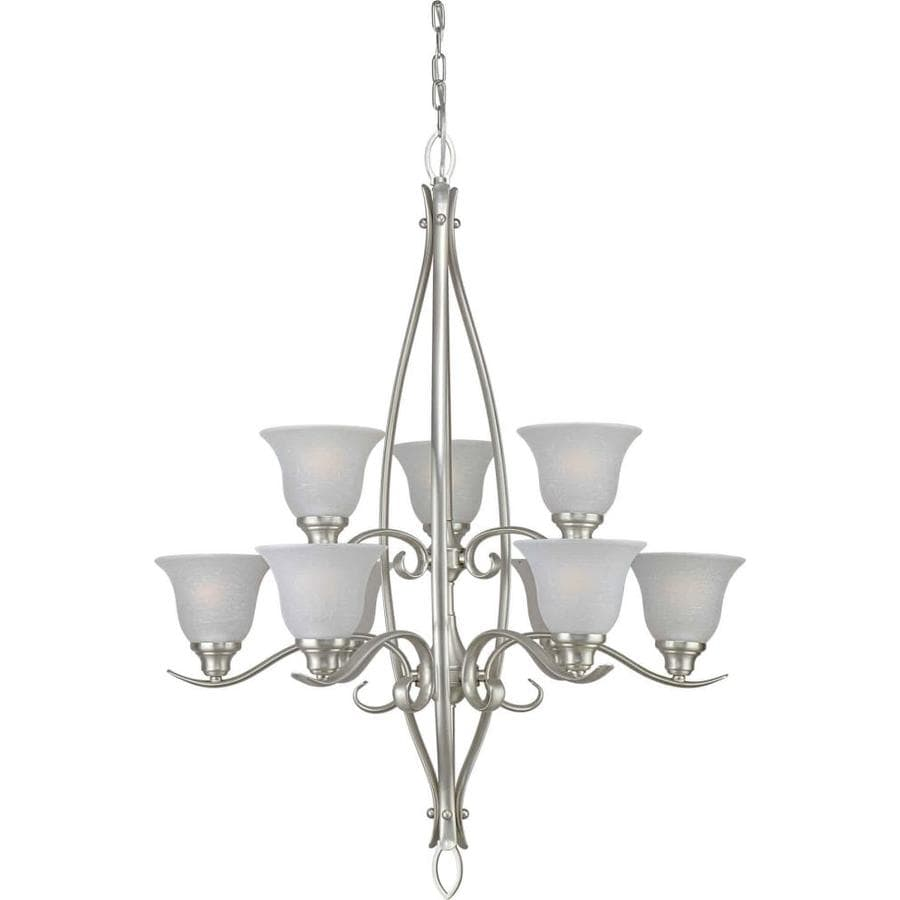 Shandy 30-in 9-Light Brushed Nickel Tiered Chandelier