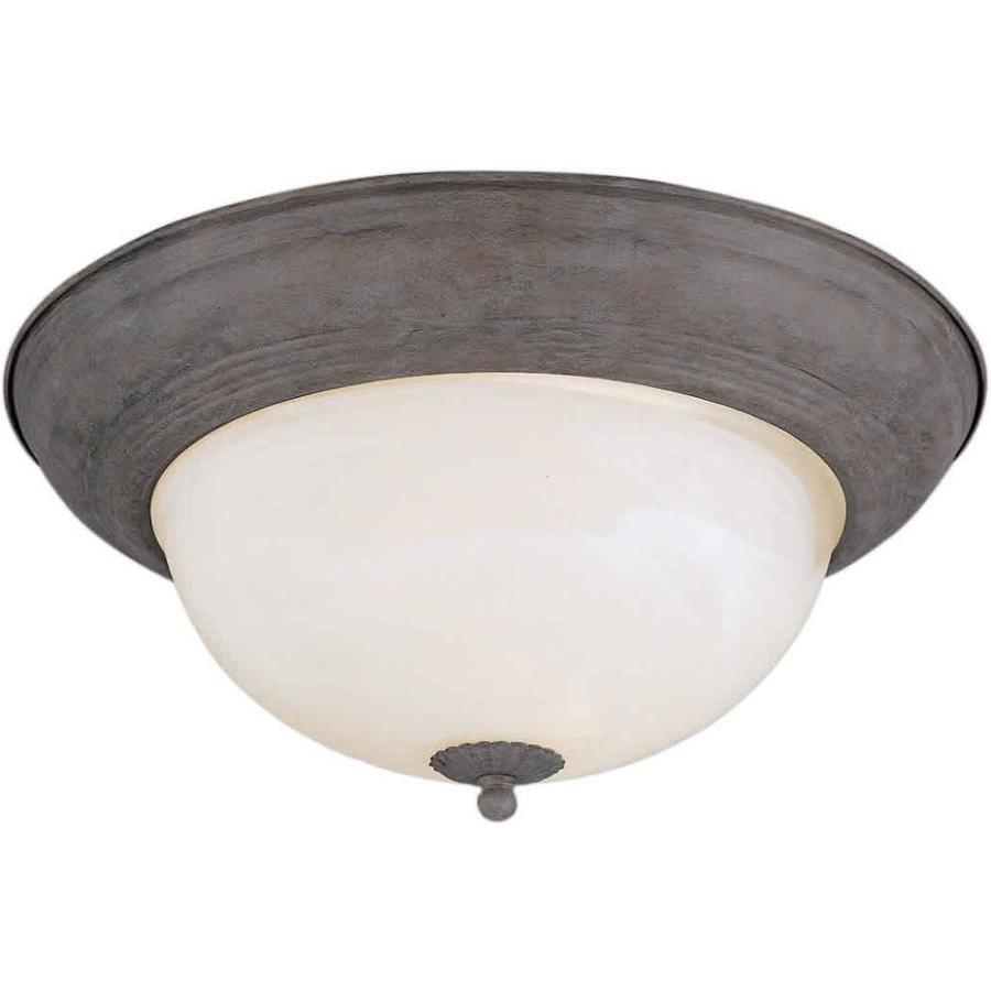 11.75-in W Desert Stone Flush Mount Light