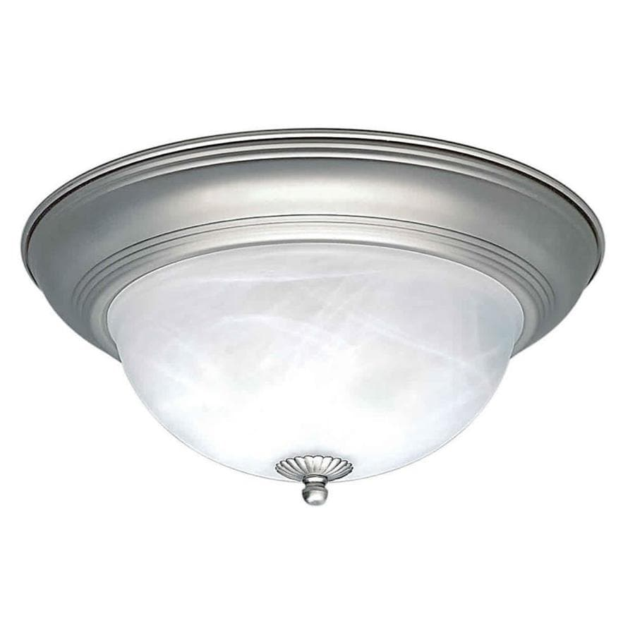15.5-in W Brushed Nickel Ceiling Flush Mount Light