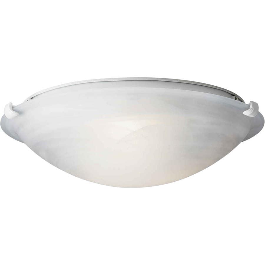 16-in W White Flush Mount Light