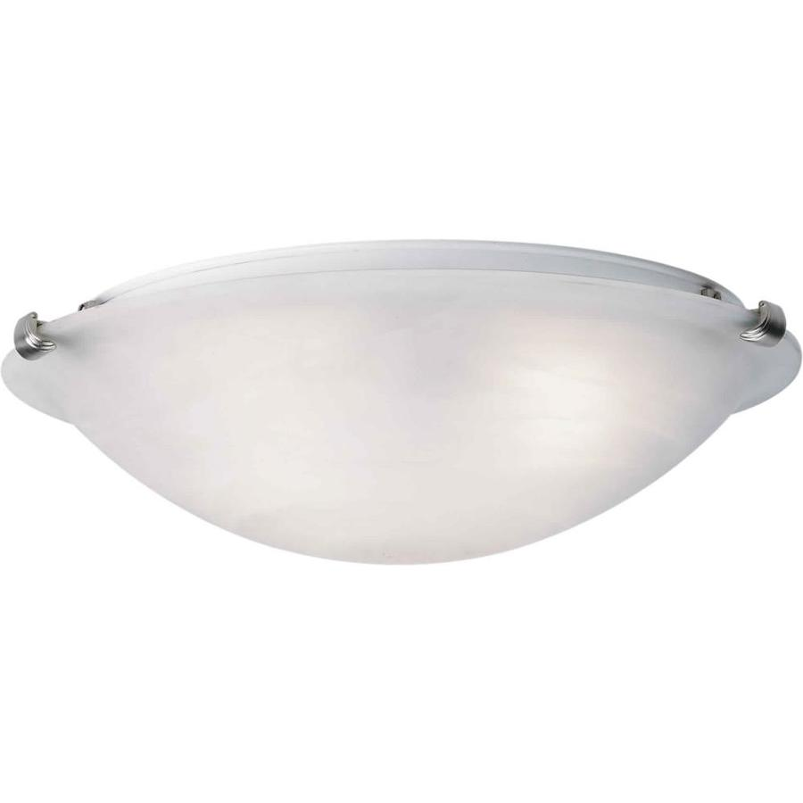 20-in W Brushed Nickel Standard Flush Mount Light