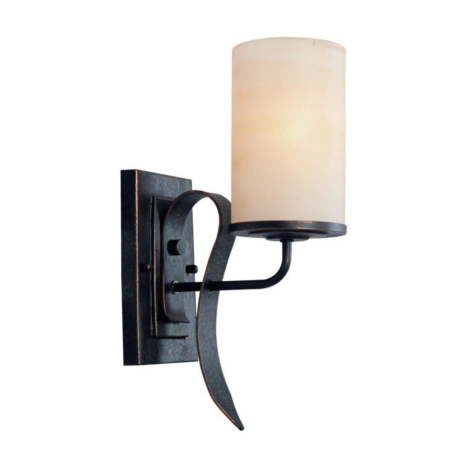 Shandy 4.5-in W 1-Light Bordeaux Arm Hardwired Wall Sconce