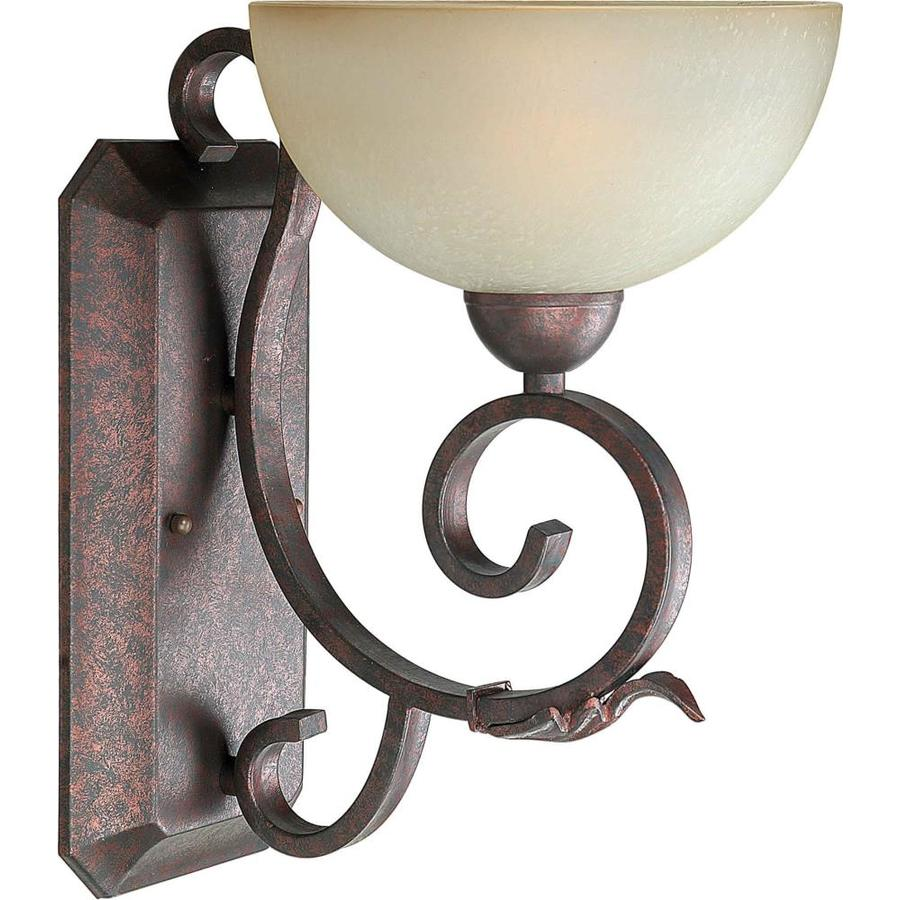 Shandy 9-in W 1-Light Black Cherry Arm Wall Sconce
