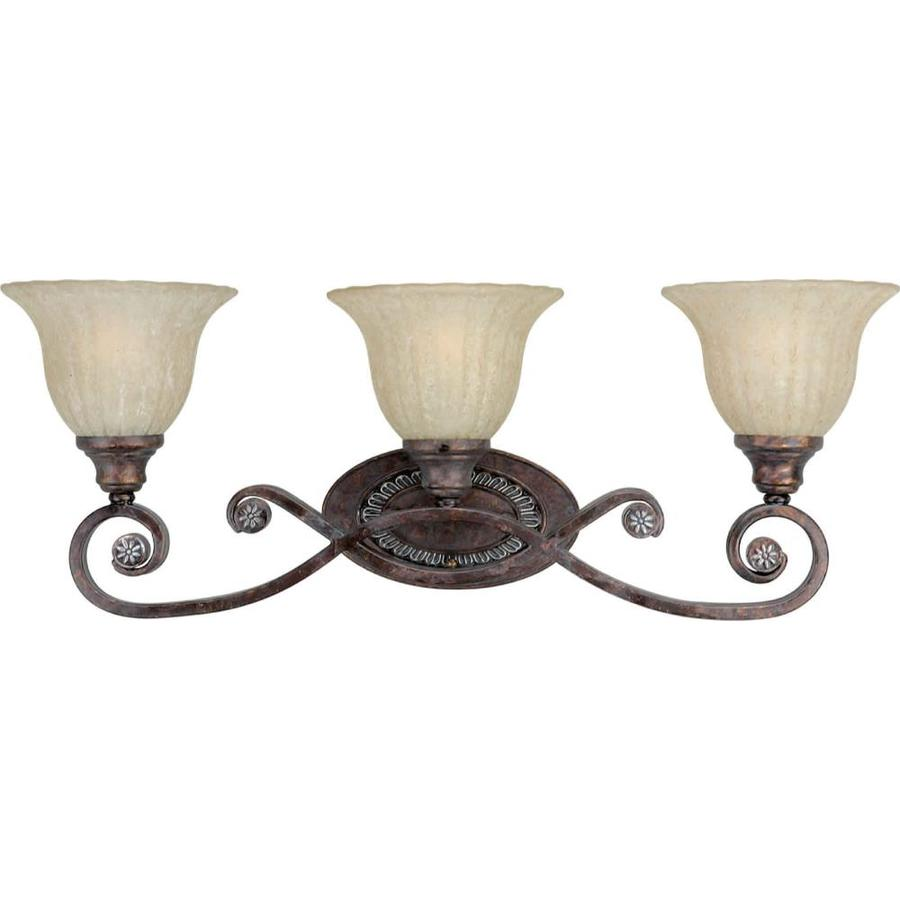Shop Shandy 3 Light 10 In Rustic Spice Vanity Light At