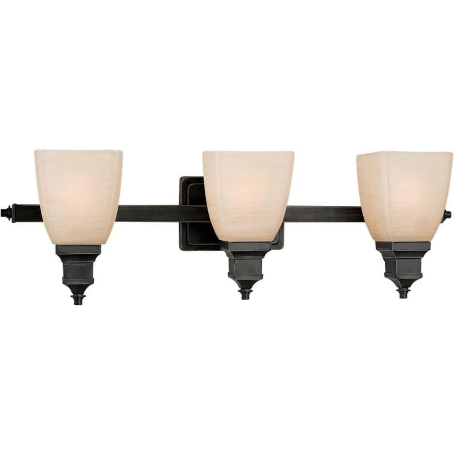 Vanity Lights Not Hardwired : Shop Shandy 3-Light 8-in Bordeaux Vanity Light at Lowes.com