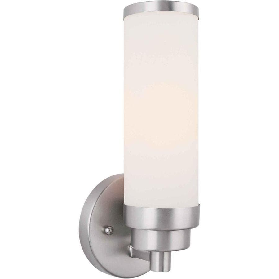Shop 4.5-in W 1-Light Brushed Nickel Arm Wall Sconce at Lowes.com
