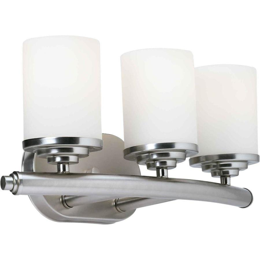 Vanity Light Refresh Kit 3 Bulb : Shop Shandy 3-Light 7-in Brushed Nickel Vanity Light at Lowes.com