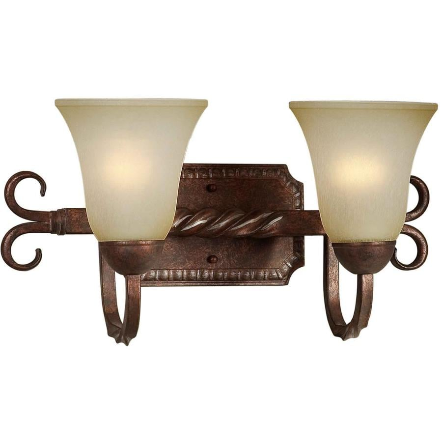Shandy 2-Light 9-in Black Cherry Vanity Light