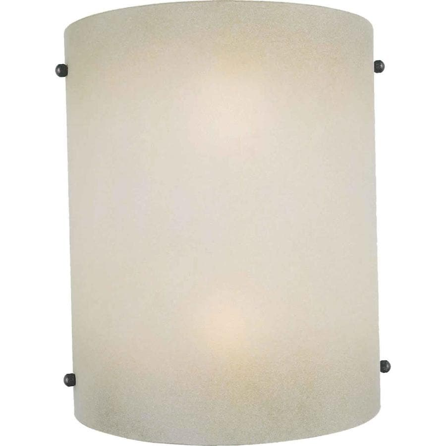 Shandy 7.75-in W 1-Light Brushed nickel Pocket Wall Sconce