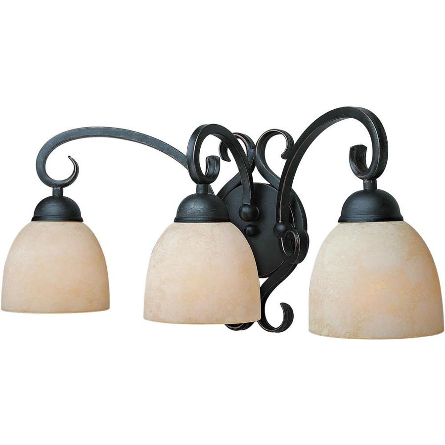 Shandy 3-Light 10-in Bordeaux Vanity Light