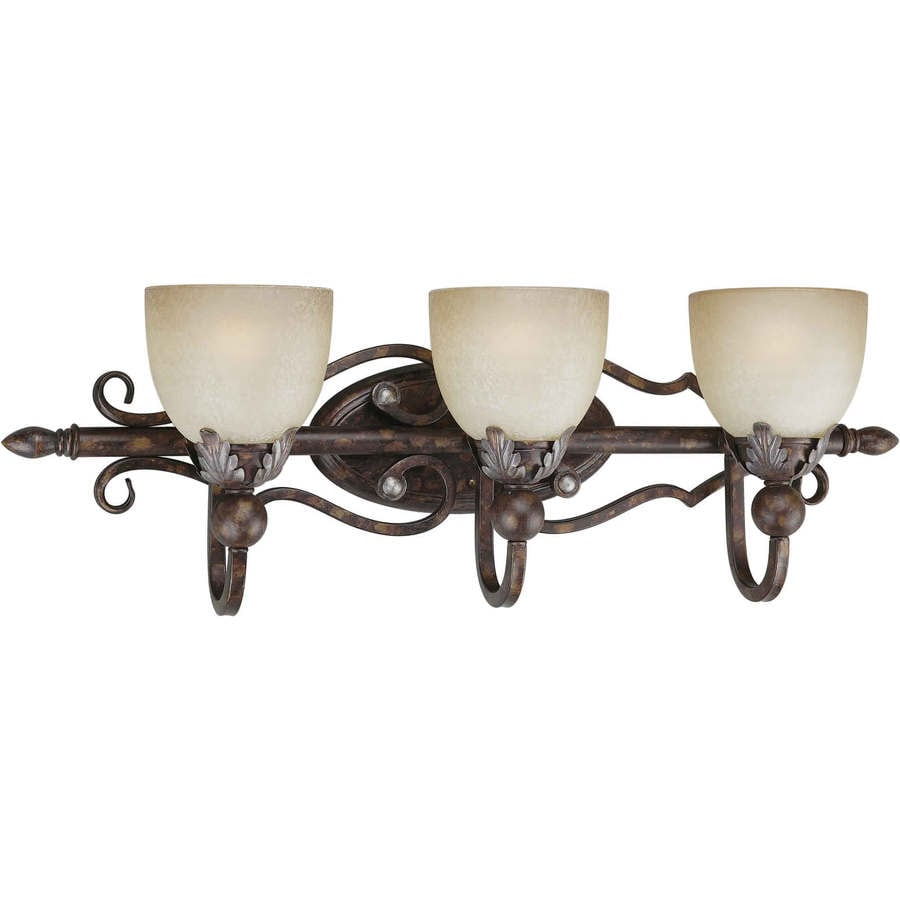 Shop Shandy 3 Light 11 In Rustic Spice Vanity Light At