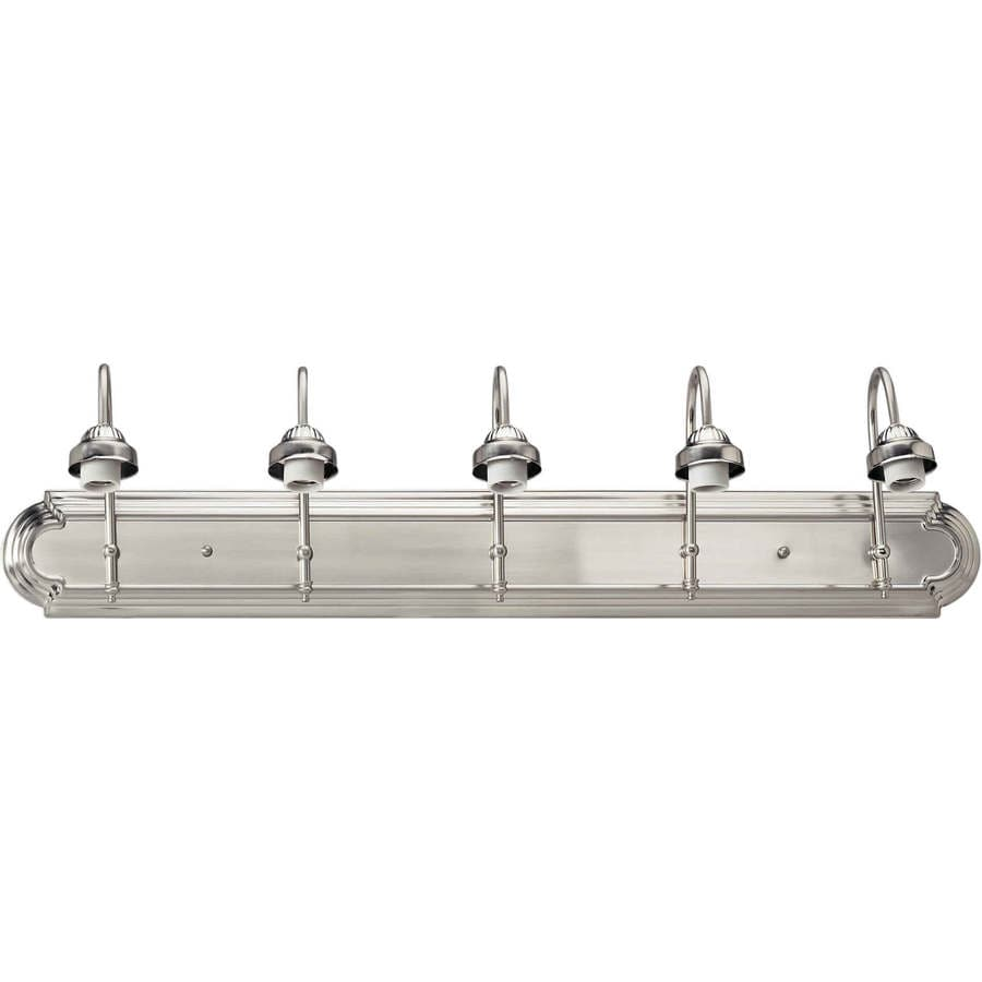5-Light Shandy Brushed Nickel Bathroom Vanity Light