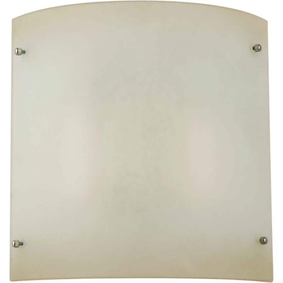 Shandy 11-in W 1-Light Brushed Nickel Pocket Hardwired Wall Sconce