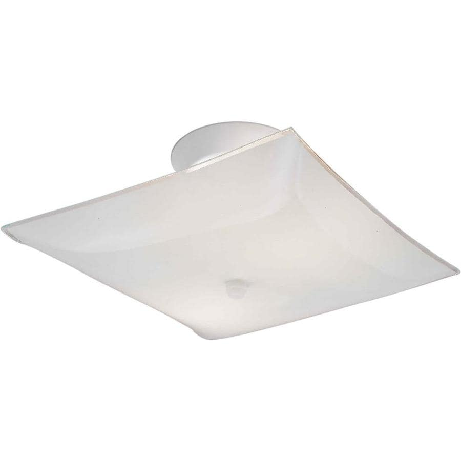 12-in W White Ceiling Flush Mount Light