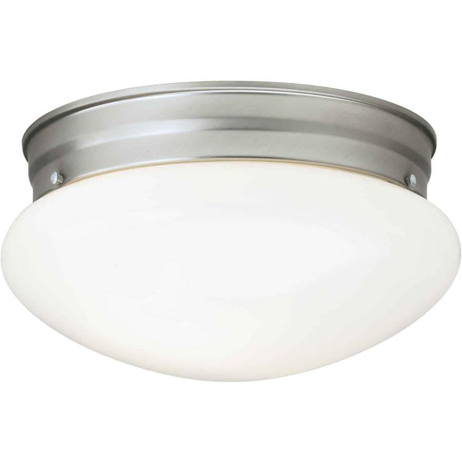 Riverwell 9.5-in W Brushed Nickel Standard Flush Mount Light