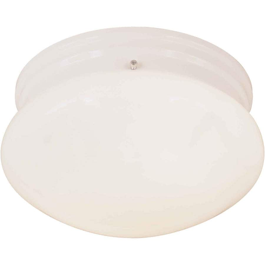 Riverwell 9.5-in W White Standard Flush Mount Light