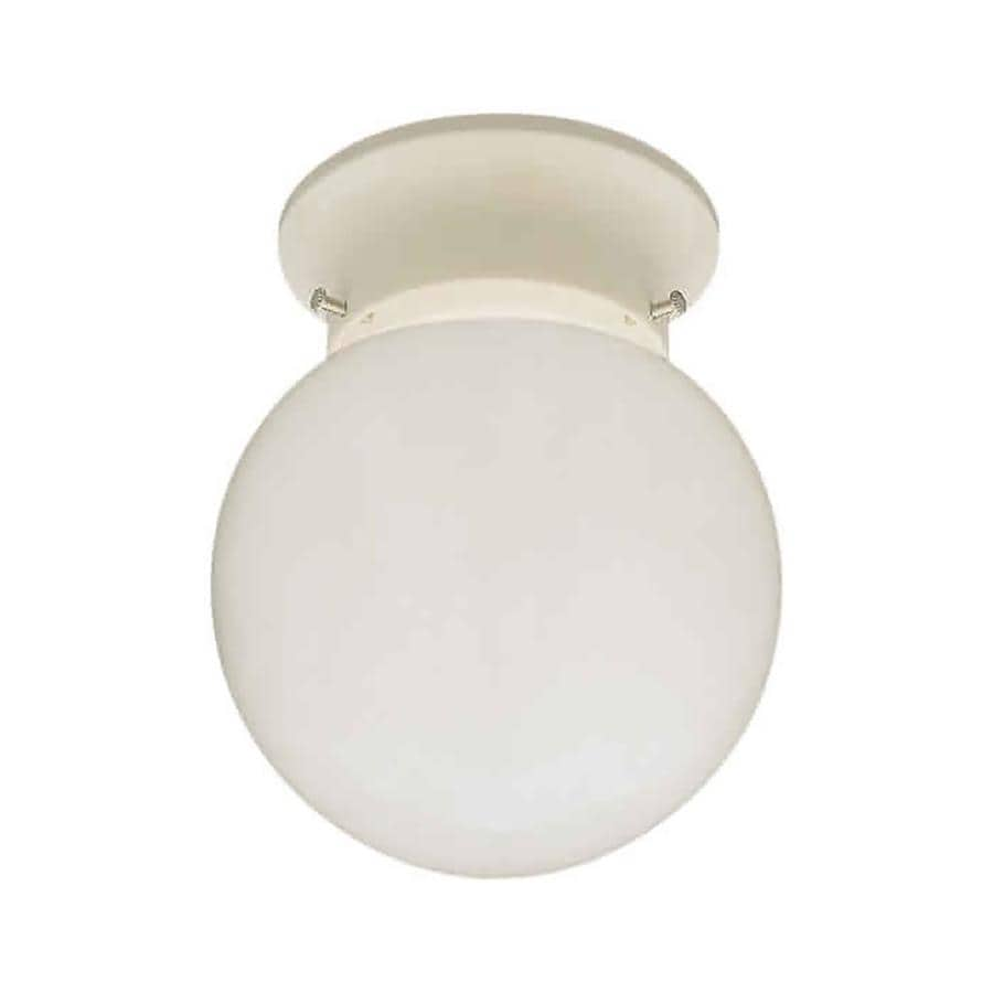 6-in W White Standard Flush Mount Light