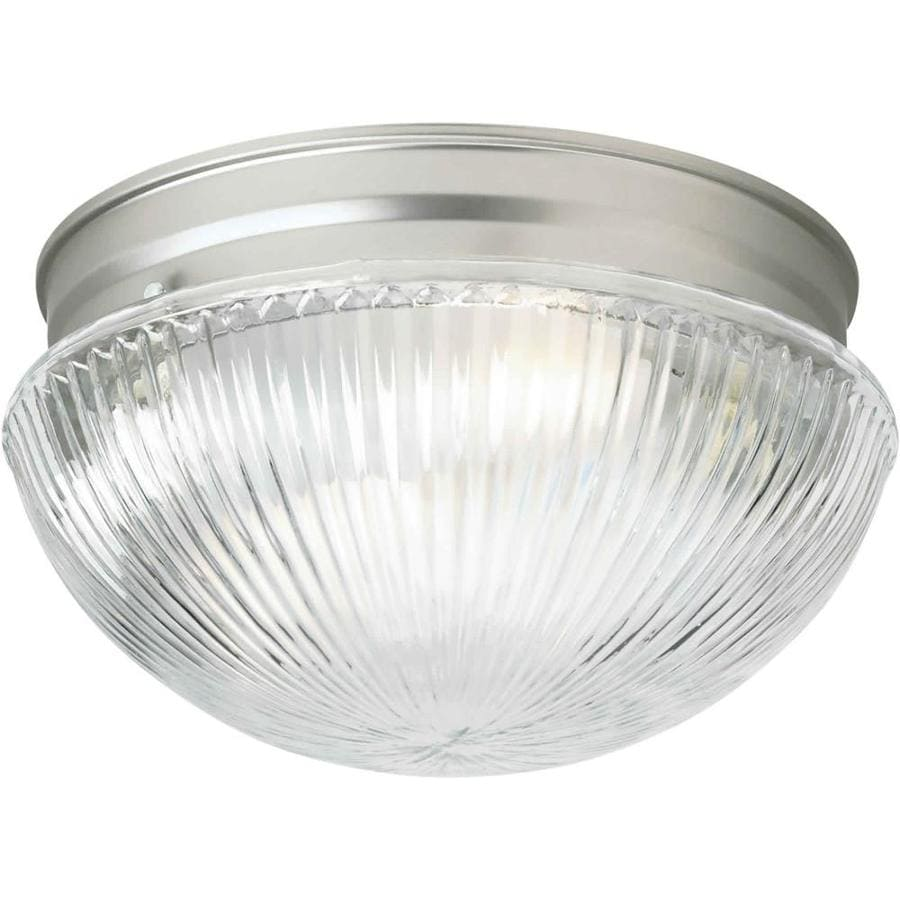 7.5-in W Brushed nickel Flush Mount Light