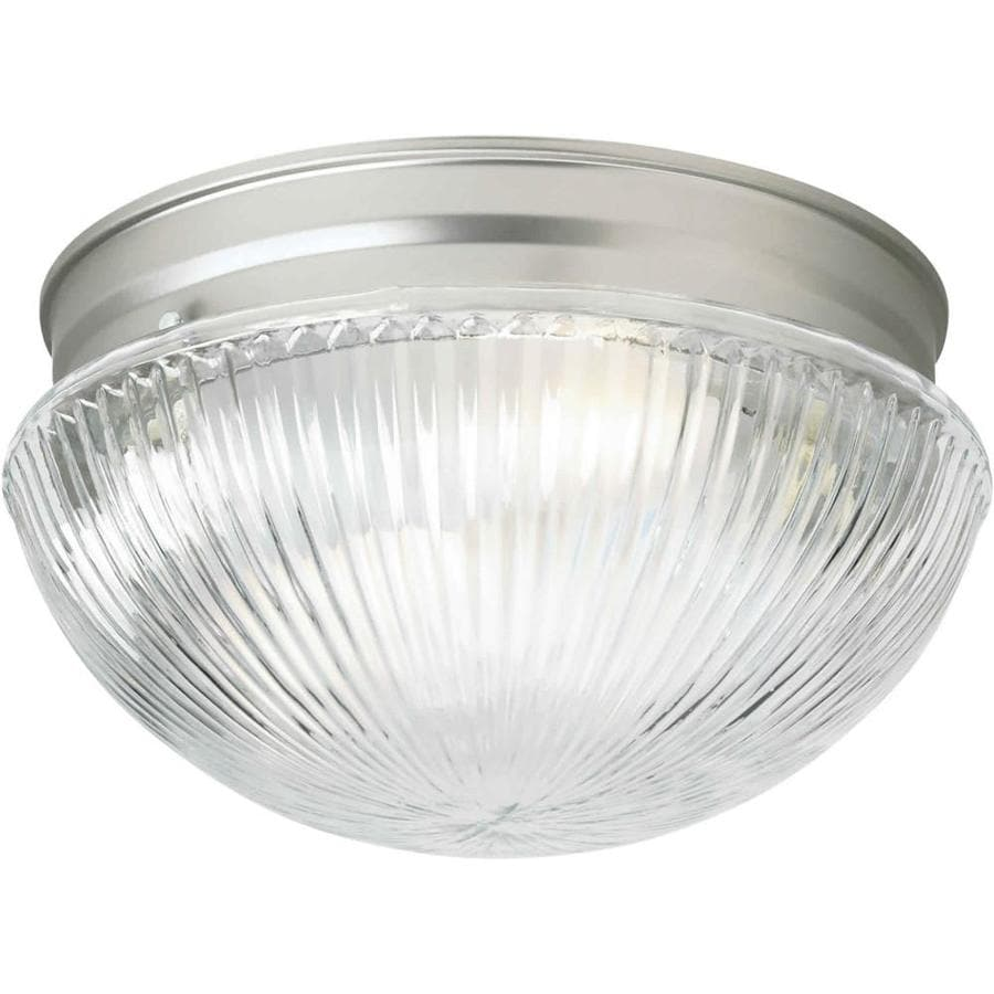 9.75-in W Brushed Nickel Ceiling Flush Mount Light