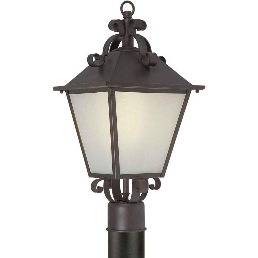 19-in H Antique Bronze Post Light