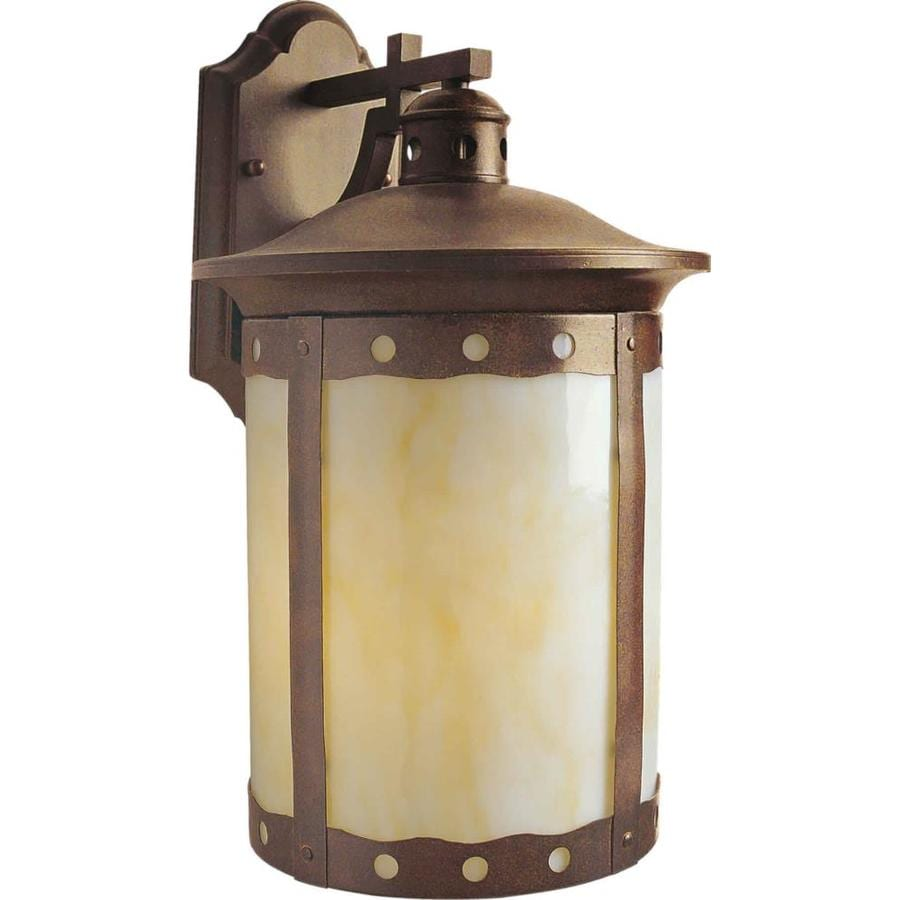 Rustic Wall Sconces Lowes : Shop 12-in H Rustic Sienna Outdoor Wall Light at Lowes.com