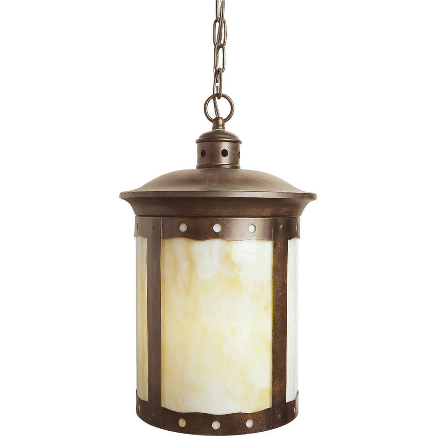 Shop Eumelus 17 5 In Rustic Sienna Outdoor Pendant Light At