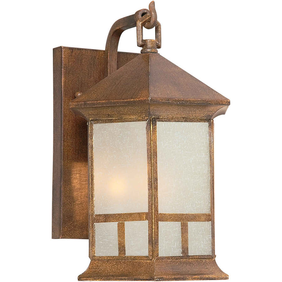 11-in H Rustic Sienna Outdoor Wall Light