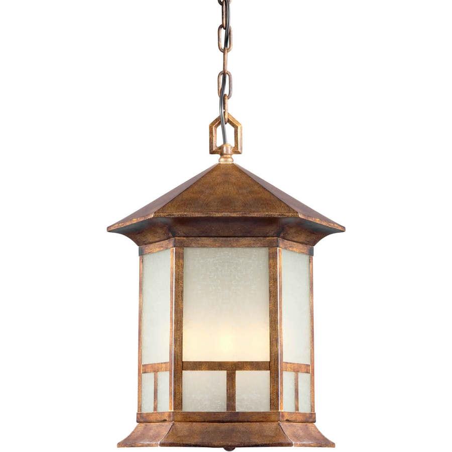 Iasius 17-in Rustic Sienna Outdoor Pendant Light