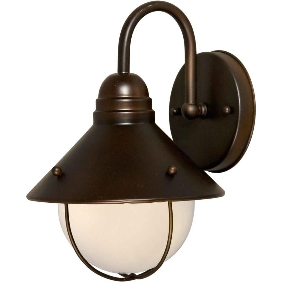 12-in H Antique Bronze Outdoor Wall Light