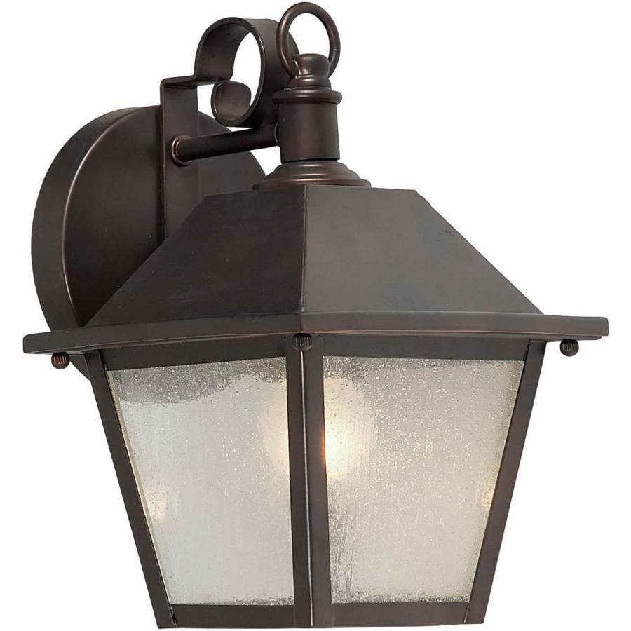 10-in H Antique Bronze Outdoor Wall Light