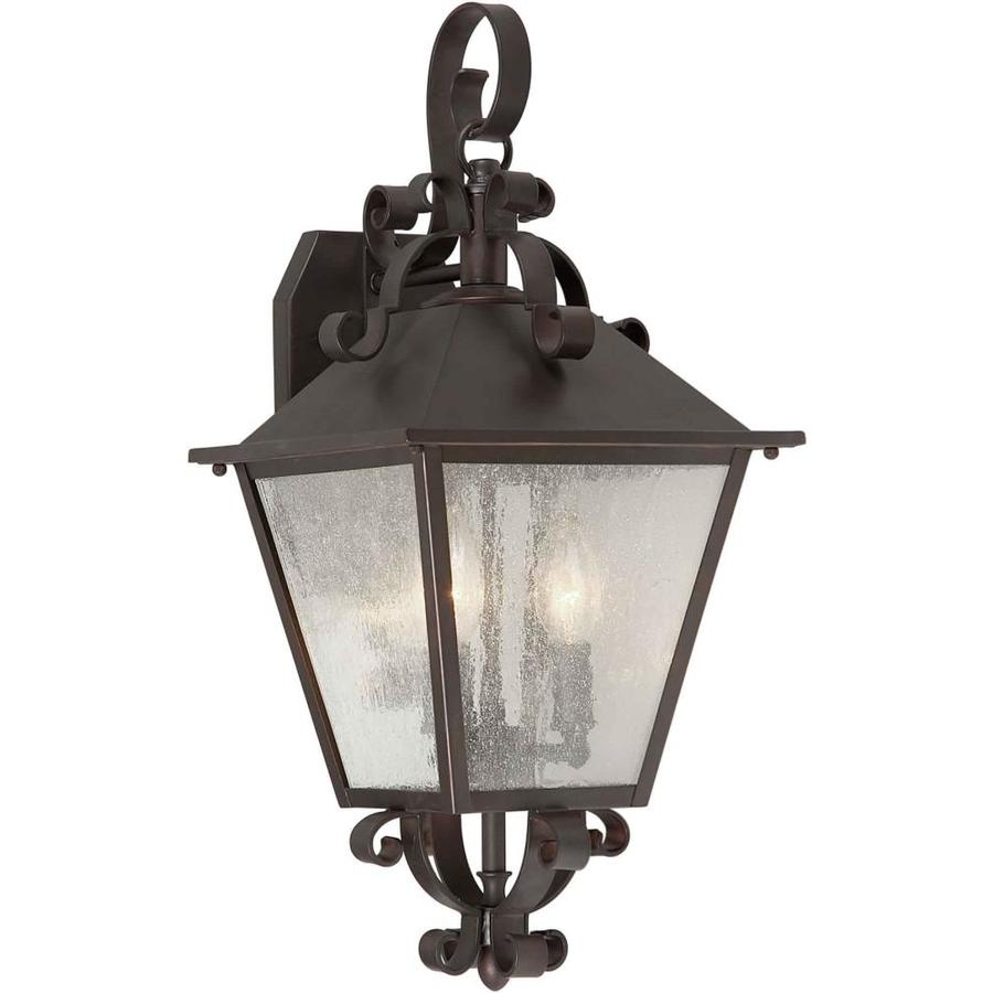 21-in H Antique Bronze Outdoor Wall Light
