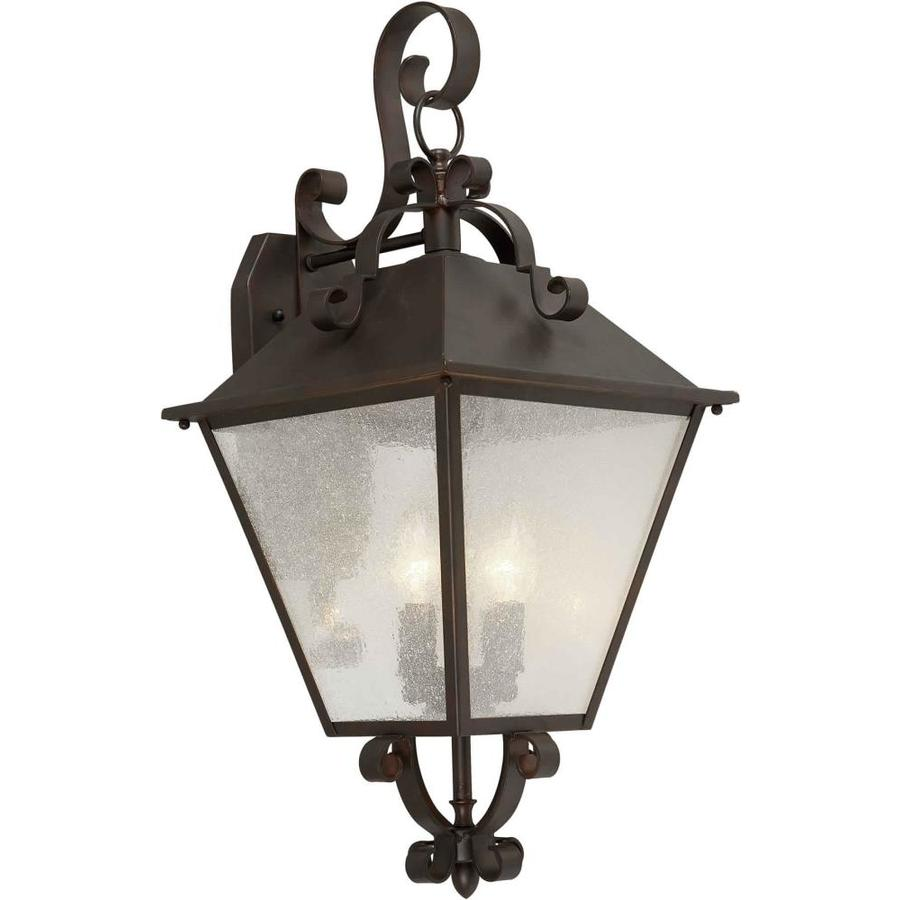 25-in H Antique Bronze Outdoor Wall Light at Lowes.com