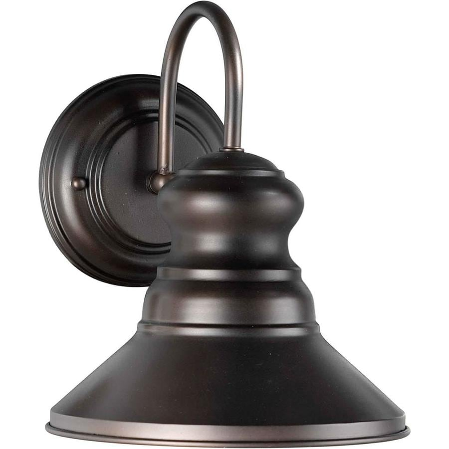 Dark Sky Wall Lights : Shop 10-in H Antique Bronze Dark Sky Outdoor Wall Light at Lowes.com
