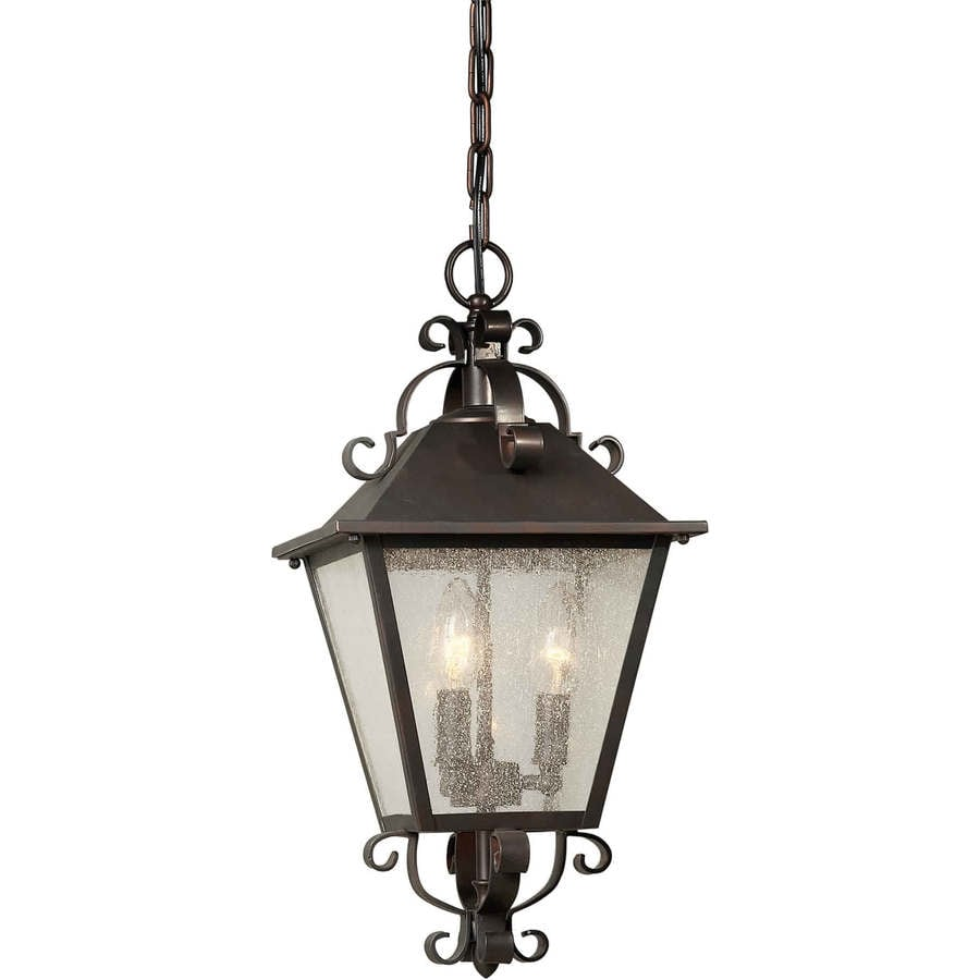 Azan 18.5-in Antique Bronze Outdoor Pendant Light