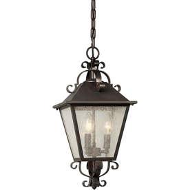 Azan 18.5 In Antique Bronze Outdoor Pendant Light