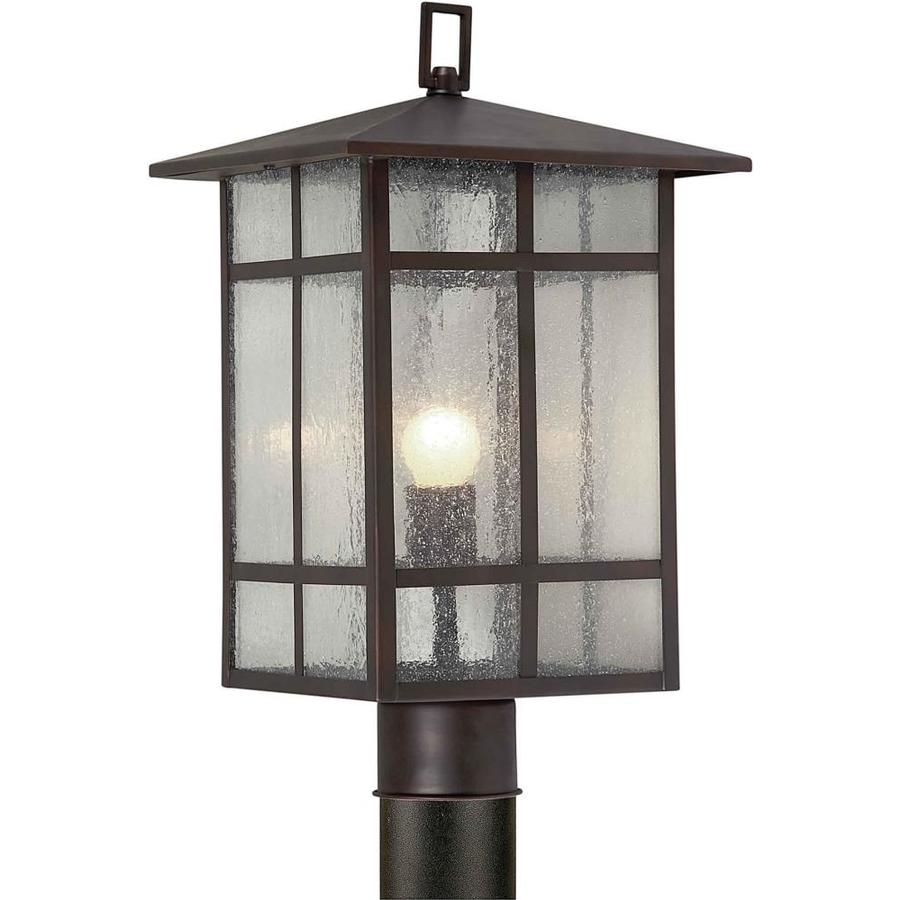 18-in H Antique Bronze Post Light