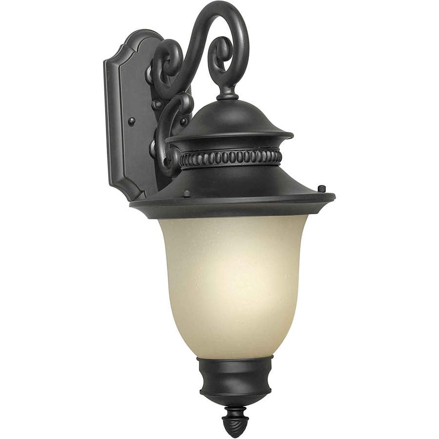 Black Outdoor Wall Lamps : Shop 20-in H Black Outdoor Wall Light at Lowes.com