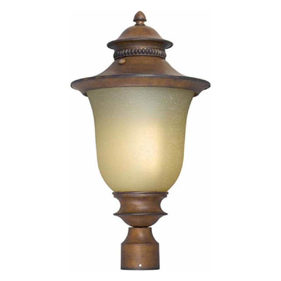 21-in H Rustic Sienna Post Light