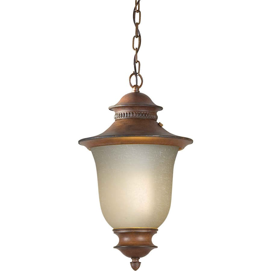 Shop Antibrote 23 In Rustic Sienna Outdoor Pendant Light At