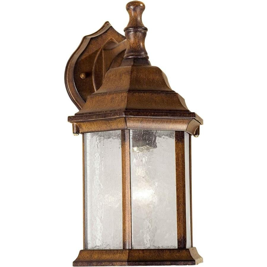 12-in H Rustic Sienna Outdoor Wall Light