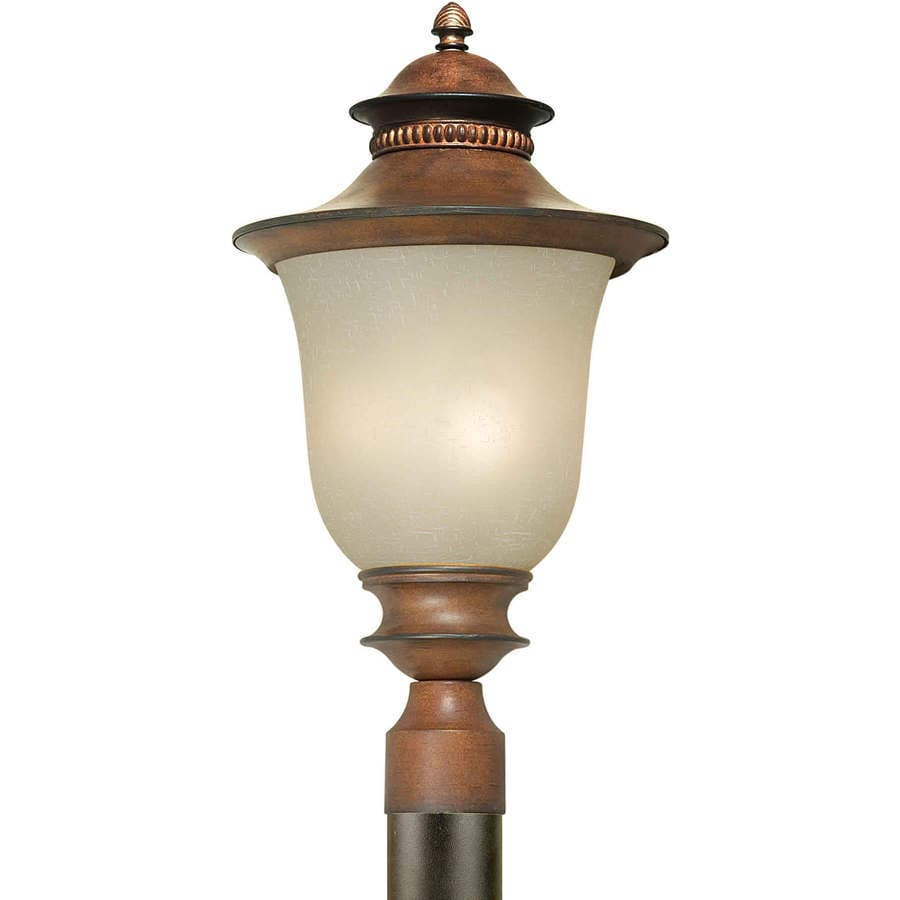 21-in H Rustic Sienna Post Light